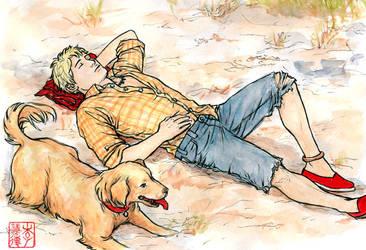 Sleeping Bodie by DiamondDazzler
