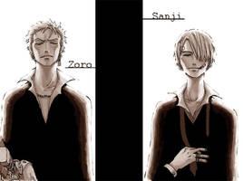 Zoro Sanji by ert7bear