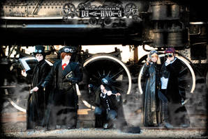 Steampunk Death Note: Group by Maru-Light