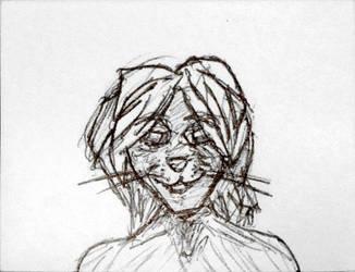 Random cat guy sketch by Jinggo78