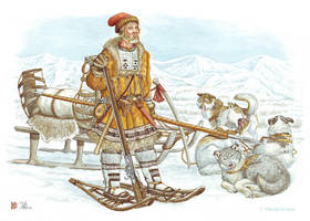 A Cossack from North-East,  end. XVII - XVII c. by Nikkolainen