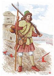 The Cossack of Amur troops by Nikkolainen