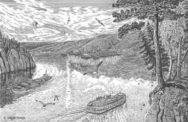 Yenisey-river. by Nikkolainen
