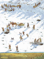 Winter net fishing by Nikkolainen