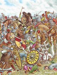 The battle with the Volga Bulgars. by Nikkolainen
