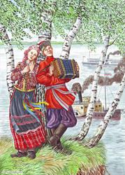 Siberian attire. by Nikkolainen
