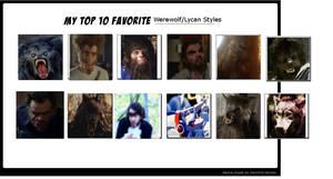 Top 12 Werewolf Styles by monstermaster13