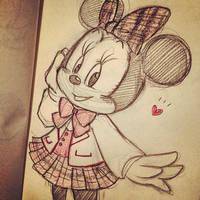 School Minnie by asami-h