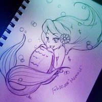 sketch dailies_Mermaid by asami-h