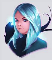 bluehair girl by Hibelton