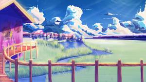 anime style background practice by Hibelton