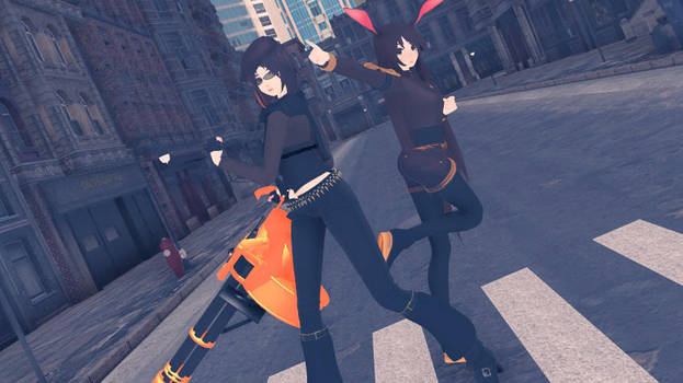 MMD TDA RWBY Coco and Velvet DL by YuugureAmakawa