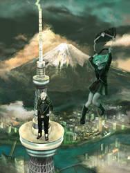 Fujin and Raijin by Raydiant