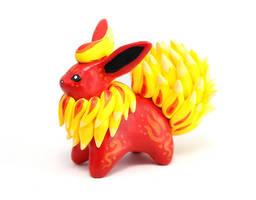 Flareon figurine by Ailinn-Lein