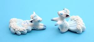 Alolan Vulpix figurines by Ailinn-Lein