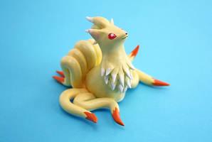 Ninetales figurine by Ailinn-Lein