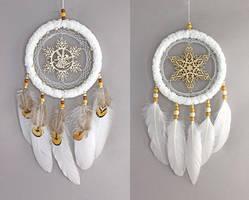 White Snowflake Dreamcatchers by Ailinn-Lein