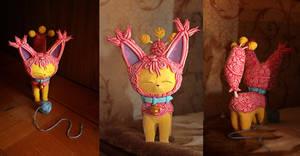 Skitty big clay figurine III by Ailinn-Lein