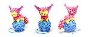 Skitty With a Yarn Ball by Ailinn-Lein