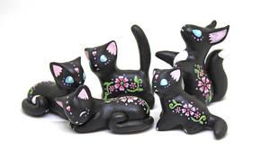 Black Floral Animals by Ailinn-Lein