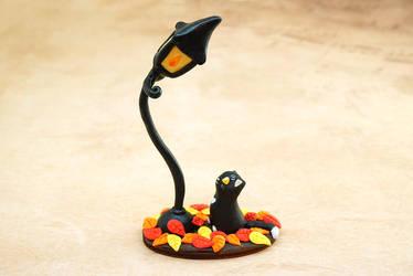 A Cat with a Street Lamp by Ailinn-Lein