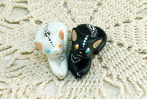 Yin Yang Cats by Ailinn-Lein
