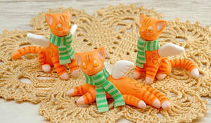 Winged ginger cats by Ailinn-Lein