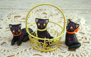 Black Cats With Ribbons by Ailinn-Lein