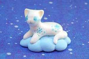 White Kitten on a Cloud by Ailinn-Lein