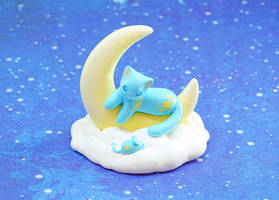 A Moon Cat and a Mouse by Ailinn-Lein
