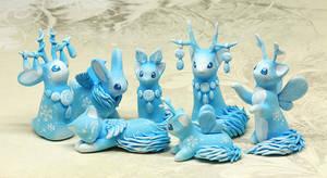 Christmas Shaman Creatures Together by Ailinn-Lein