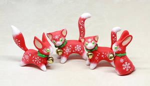 Jingle-bell Christmas Animals by Ailinn-Lein