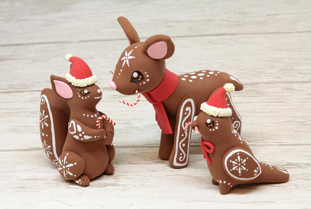 Gingerbread Christmas Animals by Ailinn-Lein