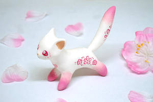 Pink Sakura Cat by Ailinn-Lein