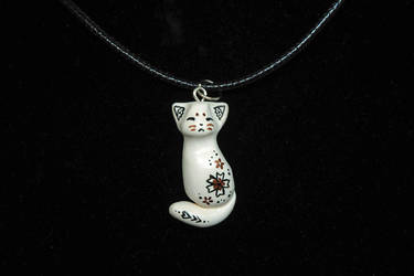 Flower Cat Pendant by Ailinn-Lein