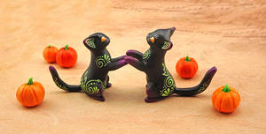 Halloween kitties by Ailinn-Lein
