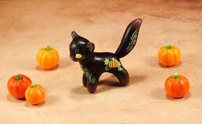 Another Halloween kitty by Ailinn-Lein