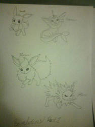 My Drawings: Eeveelutions Part 1 by pokemonabsol