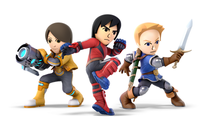 Super Smash Bros. Ultimate - 51-53. Mii Fighters by pokemonabsol