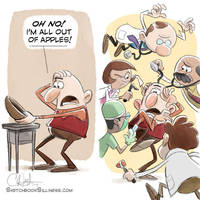 Sketchbook Silliness: Apples! by cedricstudio