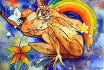 Rainbow Frog by klody
