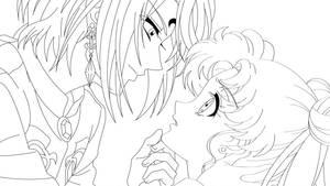 Prince Demande and Usagi by sailor-jade-iris