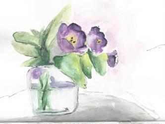 Watercolour Flowers by way-kooks
