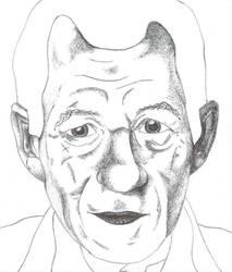 Sir Ian McKellen Biro WIP by way-kooks
