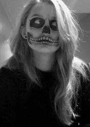 Skull Face Painting by way-kooks