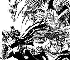 hellboy vs darkness by DHinking