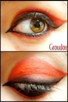 Pokemon Makeup: Groudon by Steffmiesterx13