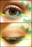 Pokemon Makeup: Bonsly by Steffmiesterx13