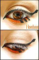 Pokemon Makeup: Hoothoot by Steffmiesterx13