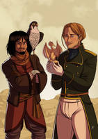 Tharkay and Lawrence by Lefantoan